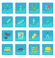 science education icon blue app vector image