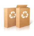 Two realistic white blank paper ecologic craft vector image