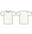 Unisex tshirt template vector image