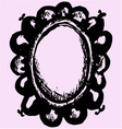 vintage antique mirror vector image