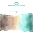 Watercolor stripe in delicate colors with frame vector image