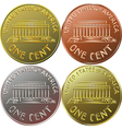 American gold money one cent coin vector image