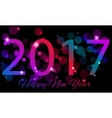 Happy New 2017 Year Seasons greetings colorful vector image