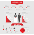 Funny infographics style wedding invitation vector image