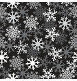 snow black pattern vector image