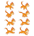 Running Cat Animation Sprite vector image
