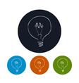 Icon lightbulb vector image