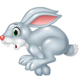 Cartoon funny panic bunny running isolated vector image