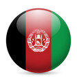 Round glossy icon of afghanistan vector image