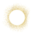 Gold sparkles on white background White circle vector image vector image