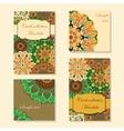 Greeting card design with mandala pattern vector image