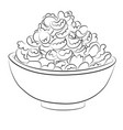 cartoon image of bowl of cereal vector image
