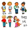 Happy Kids - part 2 Hand drawn clip-art vector image