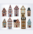 historic half-timbered houses vector image