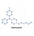 Hydroxyzine antihistamine drug vector image