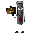 Radioactive particle warning power protection vector image