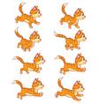 Running Cat Animation Sprite vector image