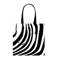 Shopping bag with zebra print for your design vector image
