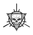Skull with elements Mystic symbol vector image