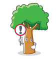 with sign tree character cartoon style vector image