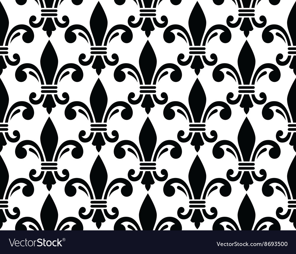 French style seamless pattern  fleur de lis vector