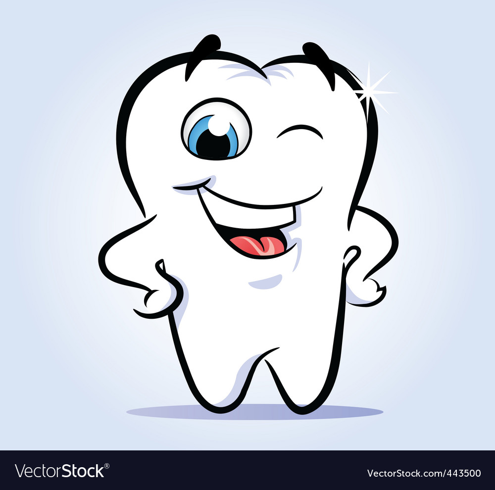 Tooth shines vector