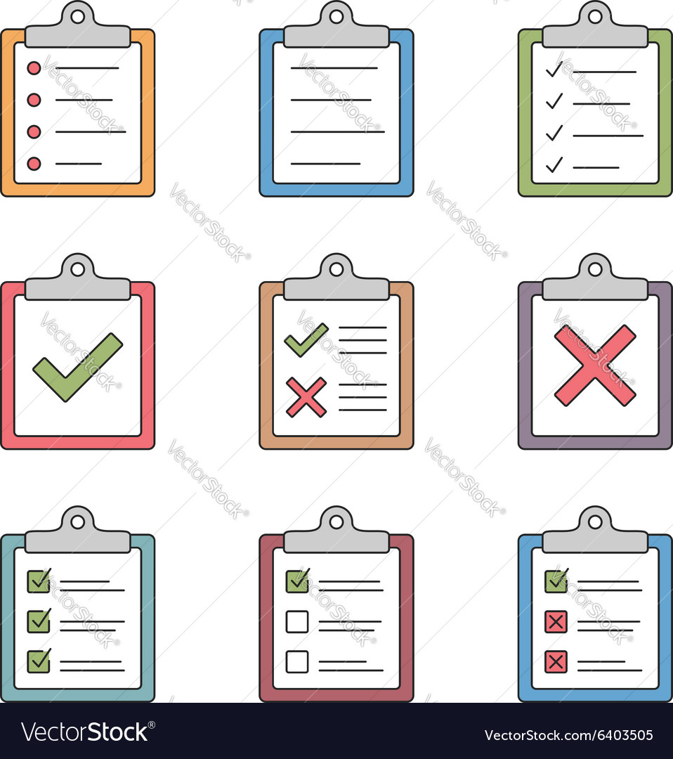 Check list icons vector
