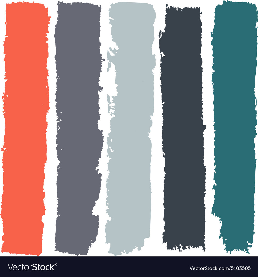 Grunge paint roller strokes brush strokes vector
