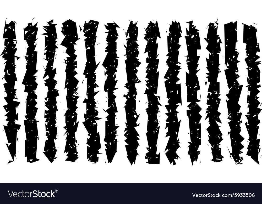 Sharp grunge irregular black lines pattern vector