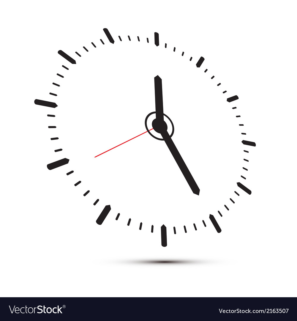 Abstract alarm clock isolated on white background vector