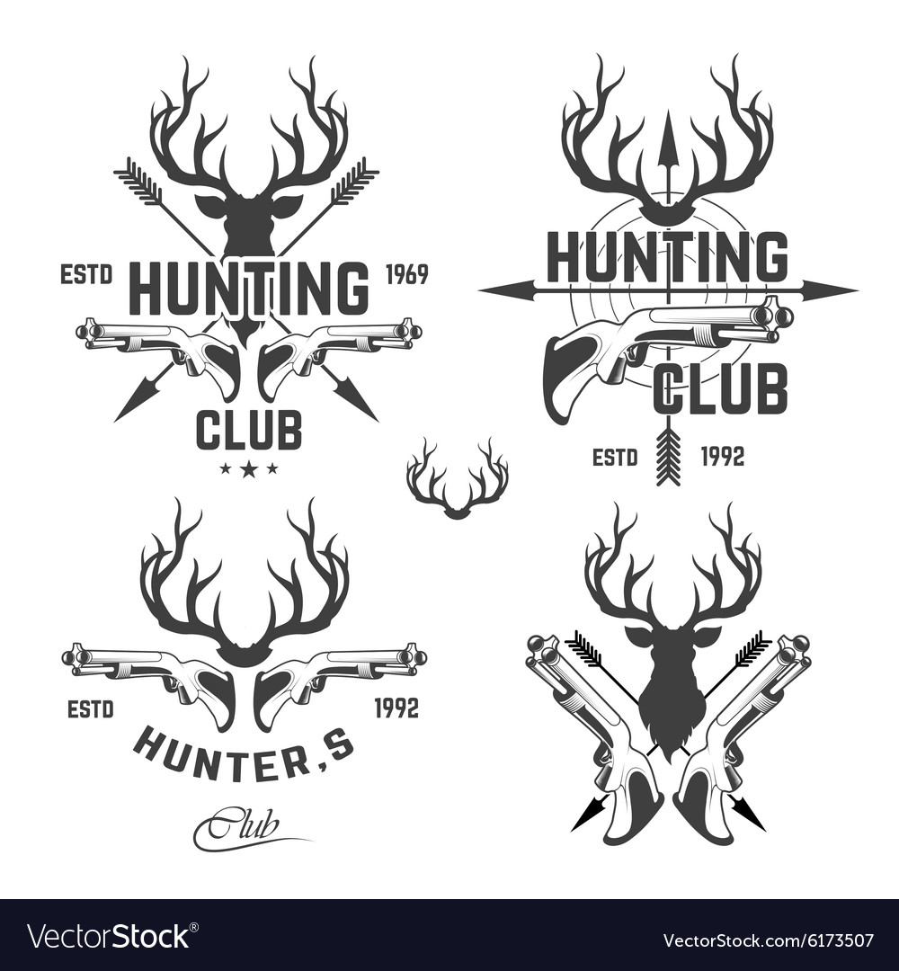 Hunting club deer vector