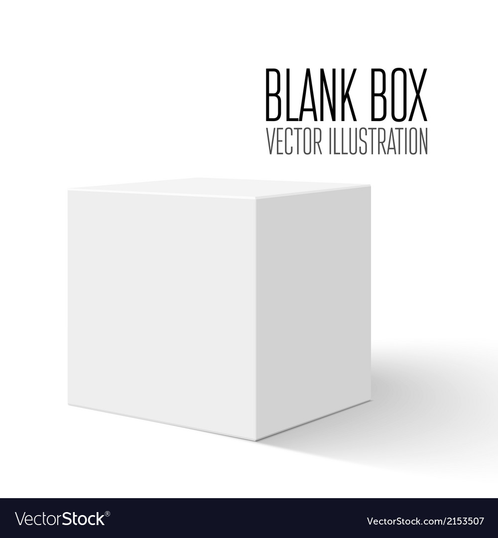 White blank box vector