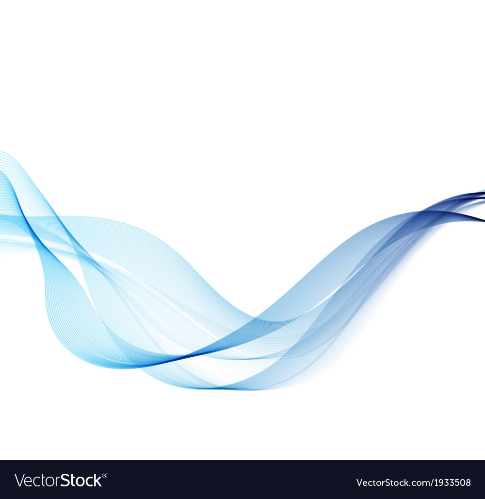 Abstract background with blue smoke wave vector