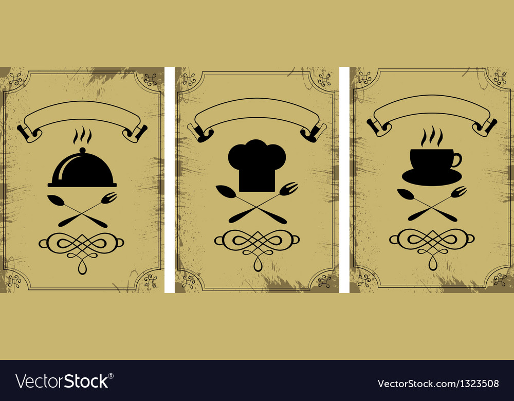 Cooking symbols collection vector