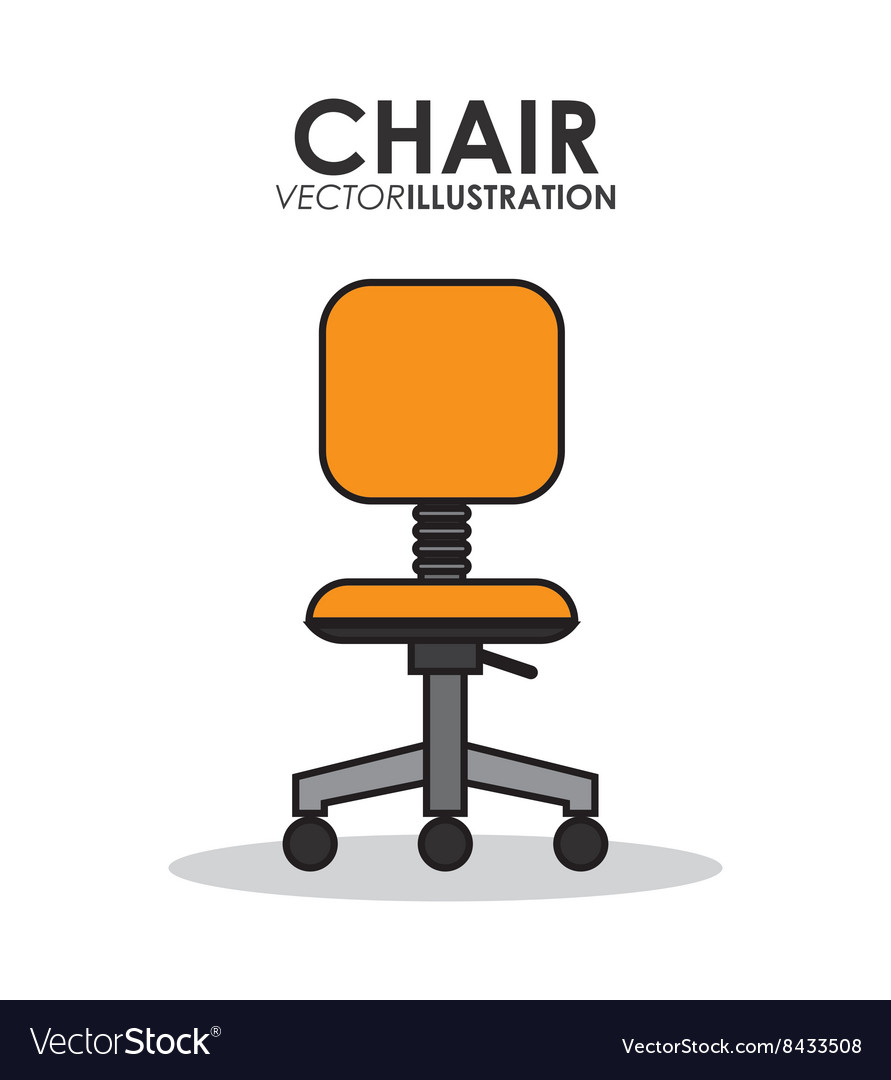 Office related chairs vector