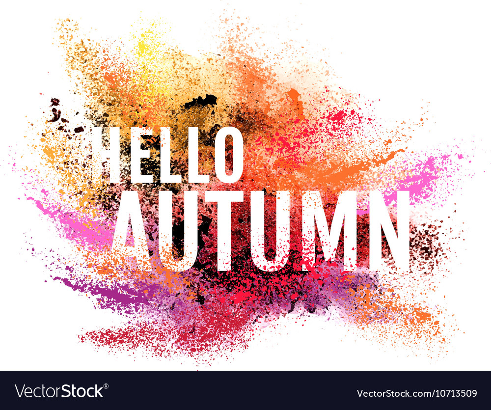 Autumn colorful dust background vector