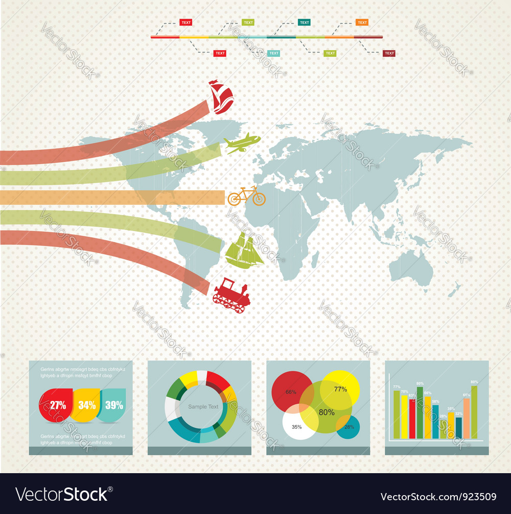 Infographics in retro style vector