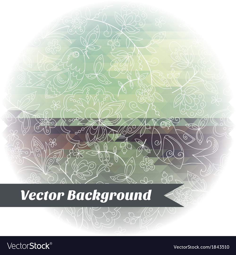 Abstract background pattern triangle bird vector