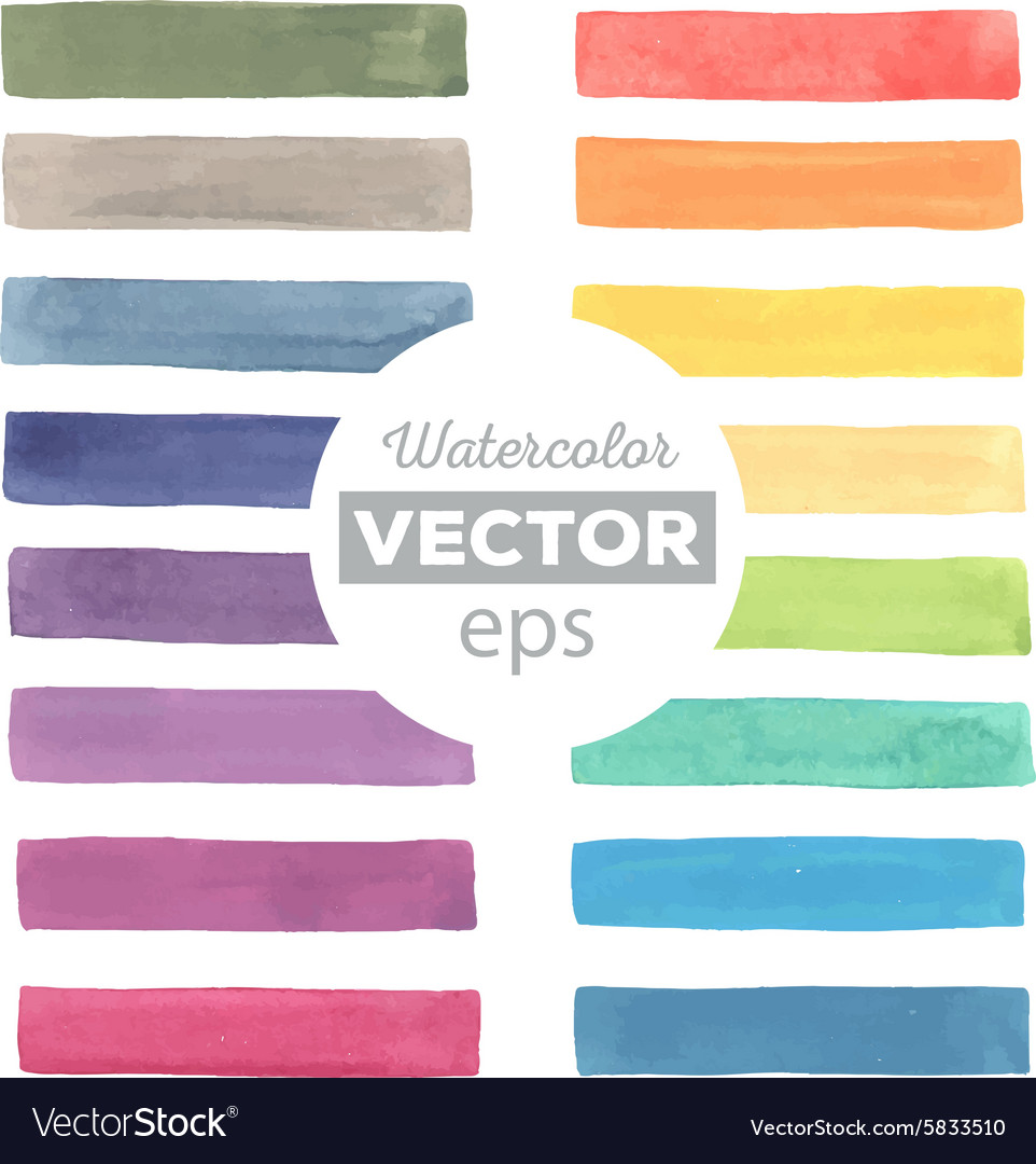 Watercolor rainbow stripes vector