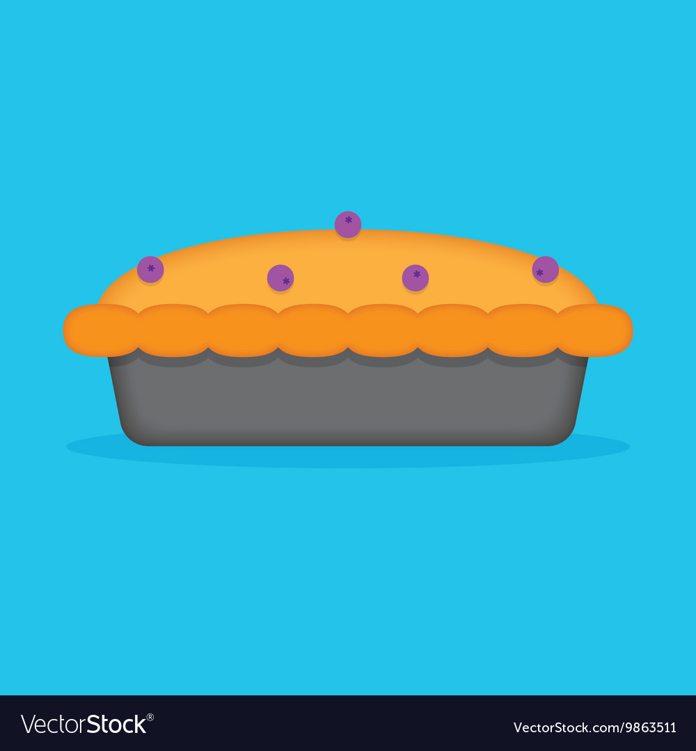 Baked blueberry pie vector