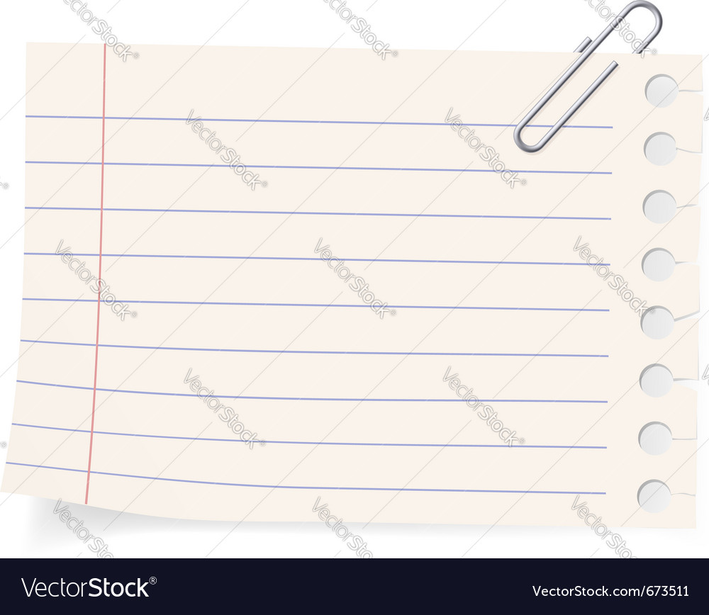 Clip and a piece of paper vector