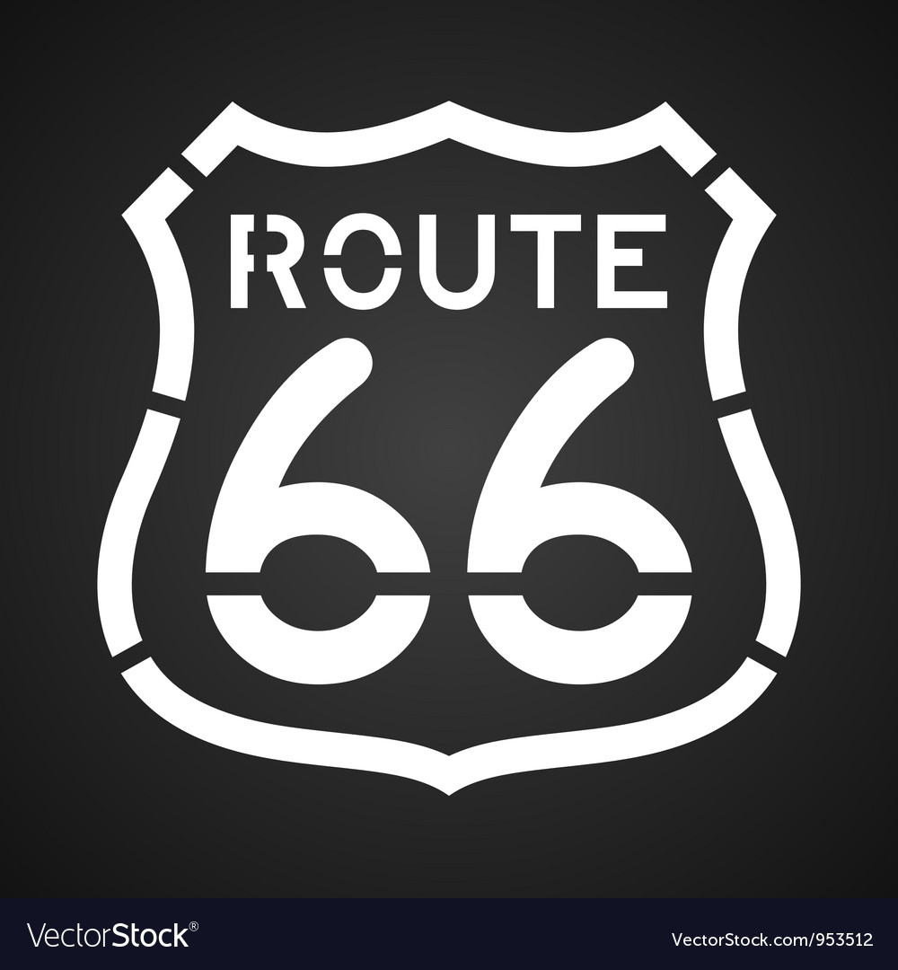 Asphalt route 66 paint vector