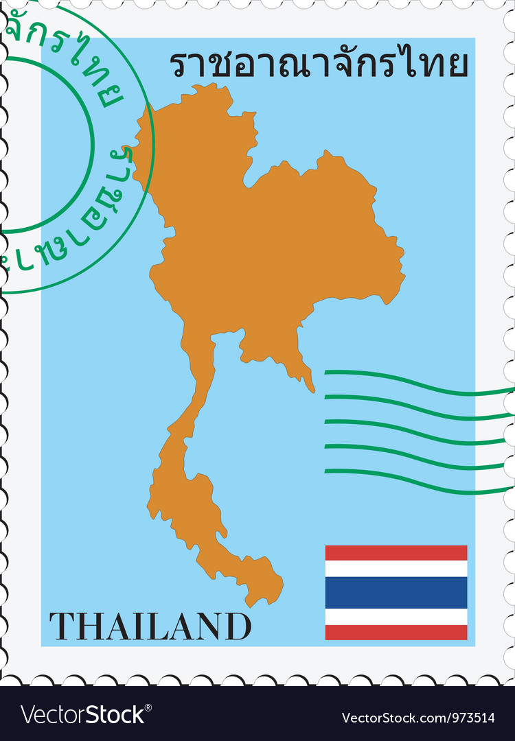 Mail tofrom thailand vector
