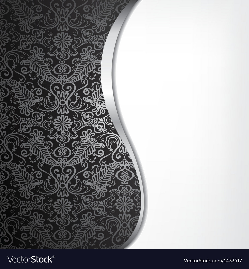 Background with silver border vector