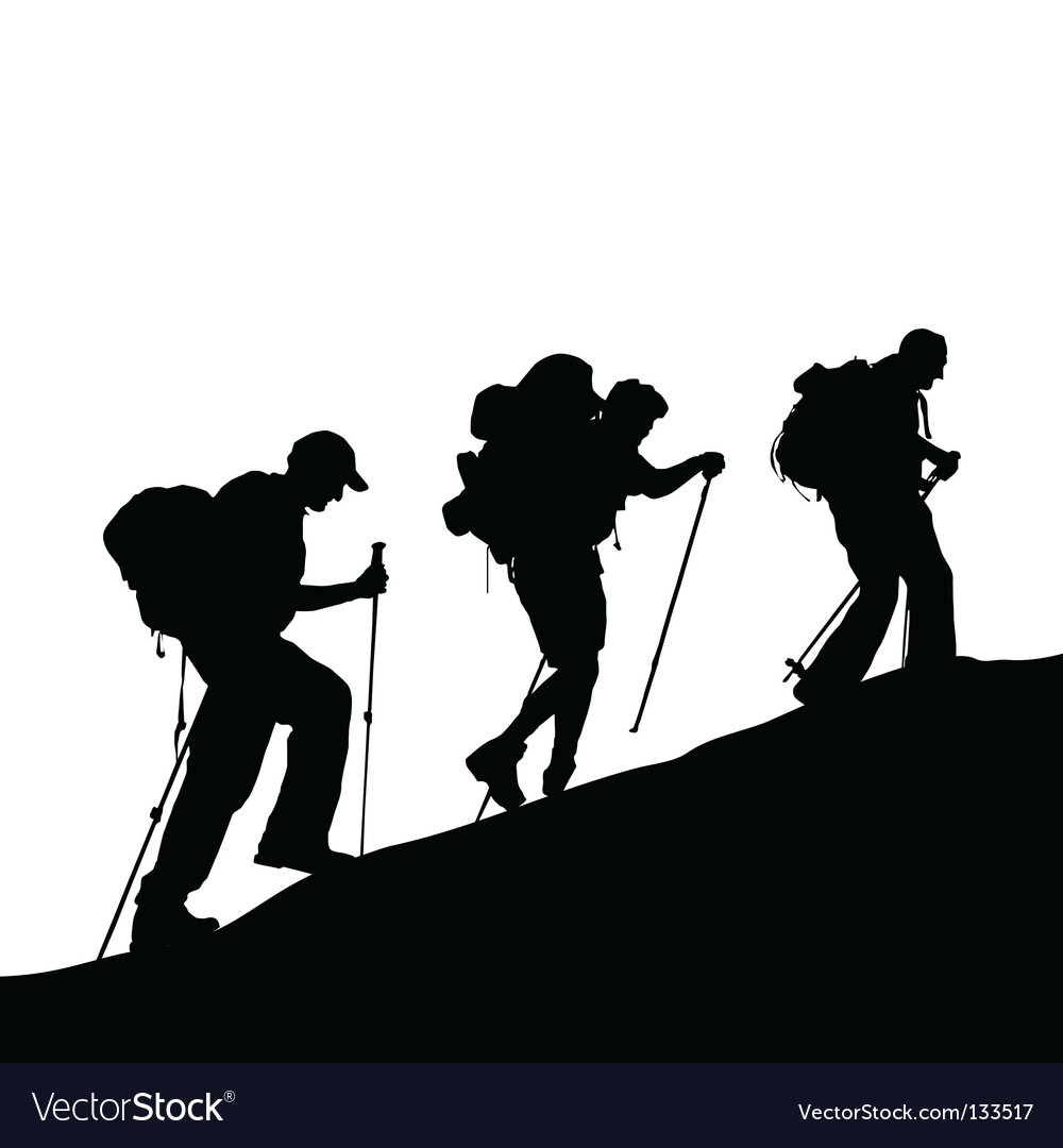 Mountain climber vector