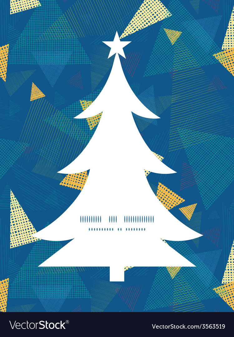 Abstract fabric triangles christmas tree vector