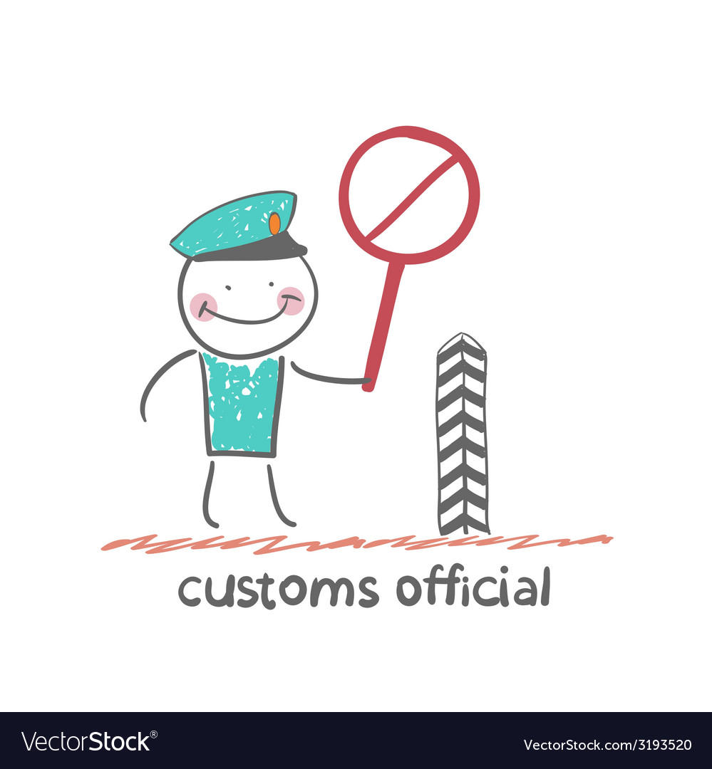 Customs officer vector