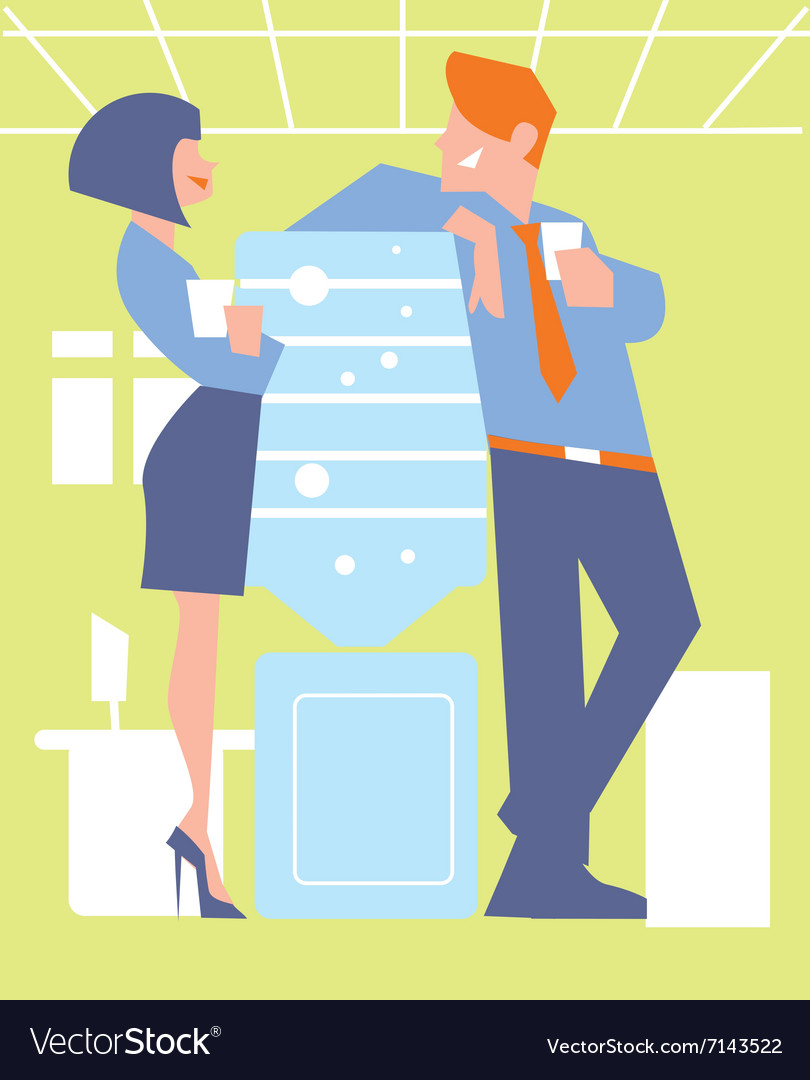 Abstract business concept of office life vector