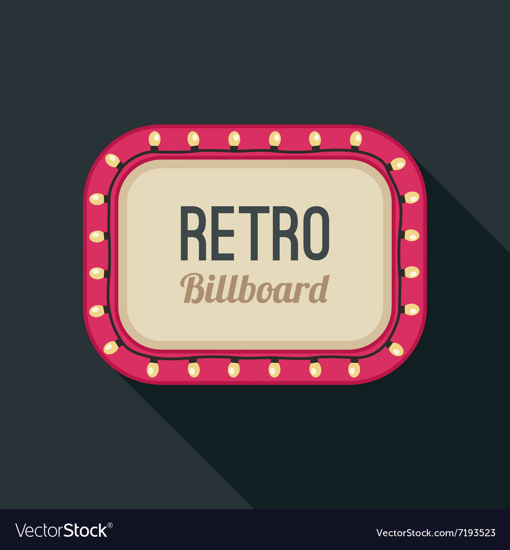 Retro light frame vector