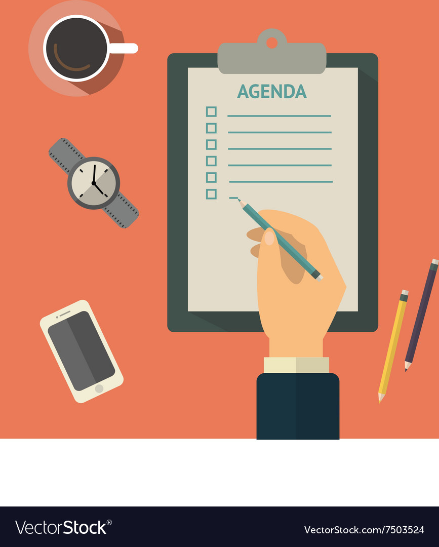 Agenda list concept business vector